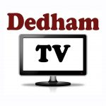 Dedham Television logo vertical HD version, created by Nick Iandolo and Susan Howland.