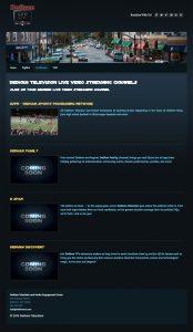Dedham Television's DedhamTVLive website LiveStream page; entire website created by Nick Iandolo.