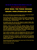 "Thumbnail image for Spec Sheet titled 'Star Wars: The Force Awakens - ""Escape From Starkiller Base""' by Nick Iandolo."