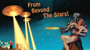 From Beyond the Stars segment title card for 'NICK'S SCI-FI CORNER' created by Nick Iandolo.