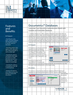 Documetrics Databases data-sheet created by Nick Iandolo for L-1 Identity Solutions—thumbnail link to actual document.