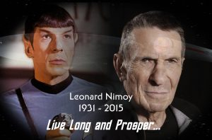 Superimposition memorial for Leonard Nimoy on NICK'S SCI-FI CORNER, NSFC @ SDCC, created by Nick Iandolo.