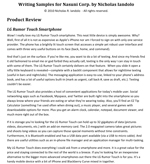 Product review for Nasuni Corp. by Nick Iandolo. This thumbnail image links to the full document.