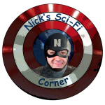 Custom Logo and Title Card for NICK'S SCI-FI CORNER, created by Nick Iandolo.