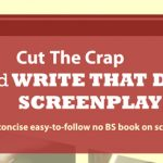 Cut the Crap and WRITE THAT DAMN SCREENPLAY! Great American PitchFest exhibit booth banner created by Nick Iandolo.
