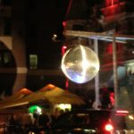 Quebec City's Grande Allée is so happening, that there's even a 'Gigantic Disco Ball' lighting up the whole street!
