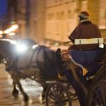 Evening horse drawn carriage rides are especially romantic when riding through the Old Walled City of Quebec City.