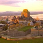 Sunset over the Old Walled City of Quebec City with the Château Frontenac in the background. Truly beautiful!
