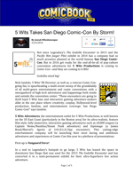 5 Wits Takes San Diego Comic-Con by Storm (faux article) by Nick Iandolo—thumbnail link to actual document.
